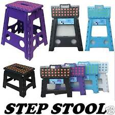 Plastic Step Stool Folding Foldable Multi Purpose Small Large Heavy Duty Ladder