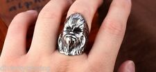 NEW STAINLESS JEWELRY RING Chewbacca the Wookiee Star war movie HOT GIFT  8-13