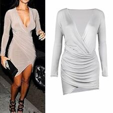 Fashion Women Elegant V-Neck Wiggle Pencil Dress Party Evening Party Cocktail