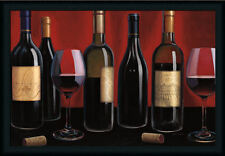 Grand Reserve Red Wine Bottle Still Life Framed Art Print Wall Décor Picture