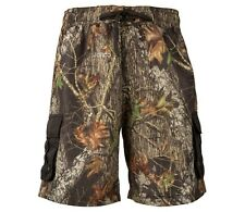 MOSSY OAK CAMO MEN'S CARGO BOARD SHORTS SWIM TRUNKS CAMOUFLAGE