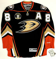 TEEMU SELANNE ANAHEIM DUCKS REEBOK NHL PREMIER JERSEY W/ RETIREMENT PATCH