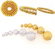 100/80/50pcs Silver&Golden Stardust Copper Ball Spacer Beads 3/4/5/6mm DIYMaking