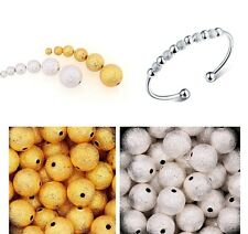 Wholesale 100pcs Silver&Golden Stardust Copper Ball Spacer Beads 3/4/5/6mm