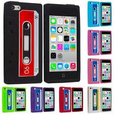 For Apple iPhone 5C Silicone Design Case Soft Cassette Retro Tape Cover Gel Skin