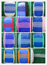 Wholesale 10/50/100 bilateral code embroidered lace ribbon colors to choose from