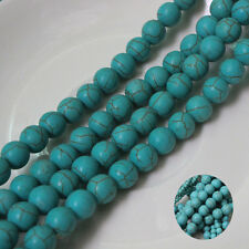 Wholesale 100/500Pcs Round Bead Loose Turquoise Spacer Beads Jewelry DIY 4mm