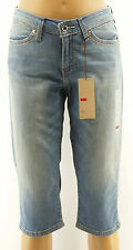Levis 529 Cropped Capri Jeans Blue Stretch Denim