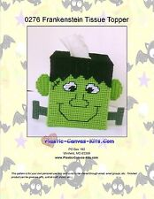 Halloween Frankenstein Tissue Topper-Plastic Canvas Pattern or Kit