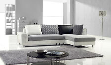Modern Contemporary fabric and leather sectional sofa chaise set couch living