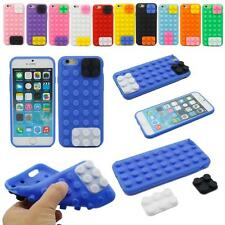 """3D Colorful Fun Toy Brick Block Soft Rubber Gel Case Cover For iPhone 6 6s 4.7"""""""
