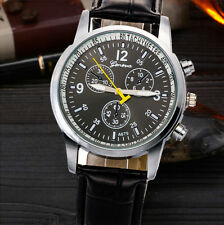 Vintage Men's Watches Faux Crocodile Leather Quartz Watch Sport Army Watch GIFT