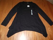 NEW WOMENS GRACE ELEMENTS LONG SLEEVE TOP WITH TANK BLACK SWEATER S M L XL