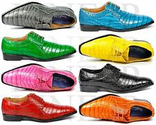 Men's Faux Leather Exotic Lace Up Dress Oxford Shoes Roberto Chillini 6563
