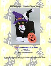 Halloween Black Cat Tissue Topper-Plastic Canvas Pattern or Kit