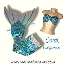 SWIMMABLE MERMAID TAIL  CORAL EDITION. FIN INCLUDED. ONLY AT MERMAIDREAMS