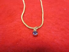 "14 KT GOLD PLATED 9 1/2"" SNAKE CHAIN ANKLET WITH AUSTRIAN CRYSTAL BIRTHSTONE"