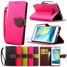 New PU Leather Flip Wallet Cash Holder Leaf Magnetic Case For Various Cell Phone