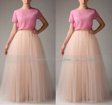 Handmade Maxi Women Tulle Skirts Tutu  Ball Gown Long Skirts Wedding Petticoat
