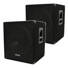 "Evolution Audio EL-SUB 15A Active Powered 15"" Subwoofers Sub Bass Bin 1200W PAIR"