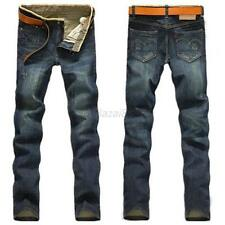 Korean Man Men's Designed Straight Slim Fit Jeans Pants Denim Trousers XXXL A55