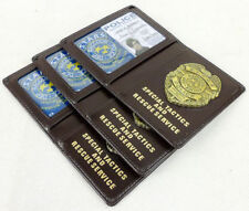 Resident Evil Stars RACCOON Police DEP Leather Card ID Wallet Holder
