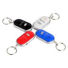 LED Key Finder Locator Find Lost Keys Chain Keychain Whistle Sound Control US