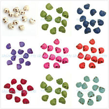 20/50/100Pcs Loose Skull Spacer Beads Man-made Turquoise For Bracelet 10x8mm