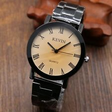 KEVIN Stainless Steel Band Quartz Wrist Watch With Black/Brown Round Dial Womens