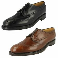 Mens Loake Formal Brogue Shoes Fitting F Style - Braemar