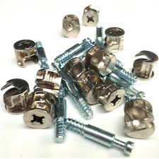 24mm & 34mm CAM DOWELS SUPPLIED WITH CAM LOCKS - FLAT PACK FURNITURE FIXINGS