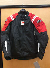 Joe Rocket Atomic 4.0 Black Motorcycle Textile Jacket, waterproof,  Black/Red
