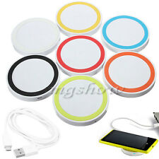Universal QI Wireless Power Charging Pad Charger + USB Cable For Mobile Phones