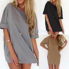 Free P&P Zanzea Women Loose T Shirt Tops Beach A-line Dress Casual Blouse Kaftan