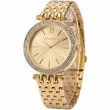 Taylor Cole Crystal Stainless Steel Quartz Lady Women Wrist Watch