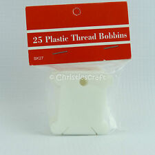 Embroidery Plastic Thread Bobbins - Choice of 50, 100 or 200 Bobbins