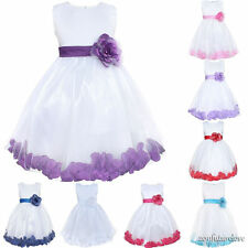 Flower Girl Kid Dress Princess Pageant Wedding Bridesmaid Party Communion 2-10Y