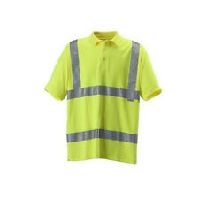 Blackrock Yellow Hi Vis Polo Shirt Viz Work Wear Visibility 2 Band & Brace 80314