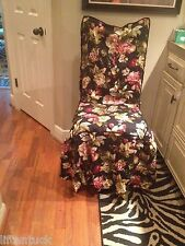 4 WAVERLY BRAMASOLE CHAIR COVER, TUSCAN FRUIT& Flowers Slipcovers