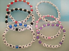 custom/personalise artist, bands,clubs,gigs party bags etc beaded bracelets