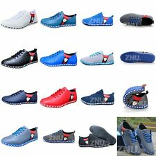 Mesh/Faux Leather Mens Colorful Casual Sneaker Shoes Sport Running Athletic Hot