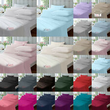 """EXTRA DEEP FITTED PERCALE SINGLE DOUBLE KING SUPER KING SHEETS SIZE 16"""" 40CM"""
