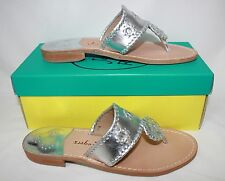 Jack Rogers Hamptons Navajo Women's Sandals silver New With Box!