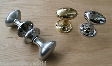 1 pair Solid brass Victorian oval mortice lever door knobs pull handles set