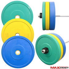Olympics Bumper Plates 2 Inch Colour Rubber Weight Plates Disc Gym Exercise Set