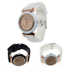 Geneva Womens Watch Dress Watch Analogue Quartz Wrist Watch Silicon/Rubber Strap