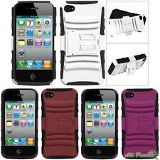 For APPLE iPhone 4/4S Protective Hybrid Armor Stand Phone Case Cover