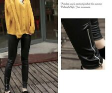 Fashion Sexy High Waisted Women's Faux Leather Stretch Skinny Pants Leggings