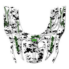 Arctic Cat ZR snowmobile graphics kit 2000 - 2006  - White Digital Camo Green