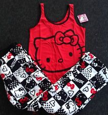 Pajamas Hello Kitty NWT 2 PC. Gift Set Juniors / Women's Sizes S M L & X-Large